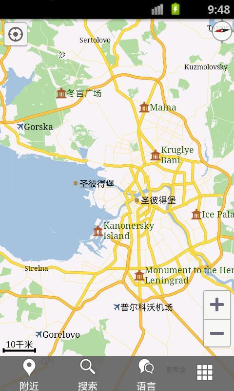 圣彼得堡旅地图 俄罗斯圣彼得堡地图 圣彼得堡景点地图